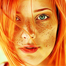 freetoedit woman freckles badlandsmagiceffect oilpainting