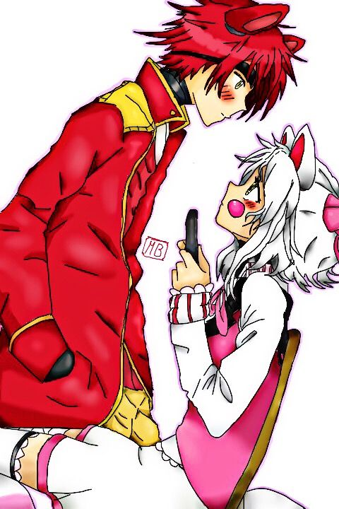Freetoedit Mangle Foxy Foxyxmangle Fnaf Humanverdion