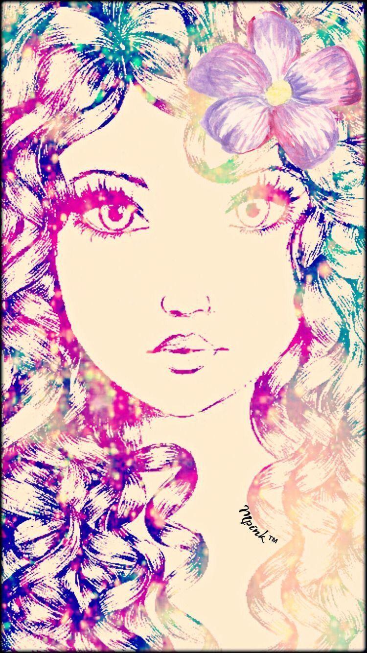 Flower Girl Interesting Art Girl Glitter Sparkle Pretty