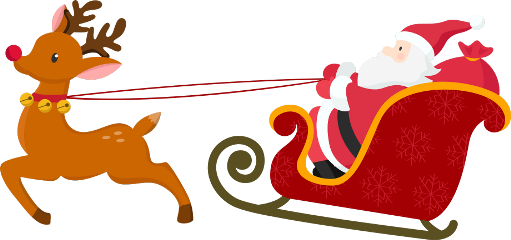 freetoedit christmas sled colorful santaclaus