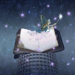 freetoedit fairy fairytail sparkle night