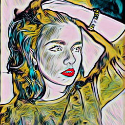 freetoedit picsart woman multipleeffects oilpainting