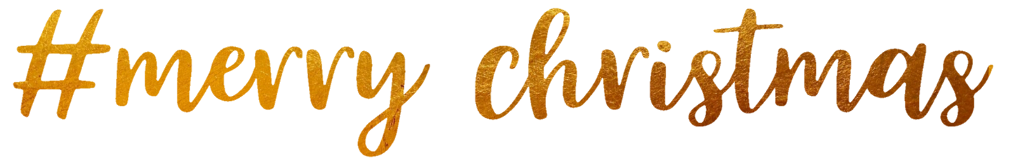 merrychristmas gold text freetoedit