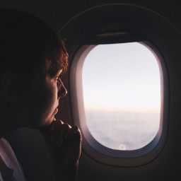 freetoedit people airplane window dream