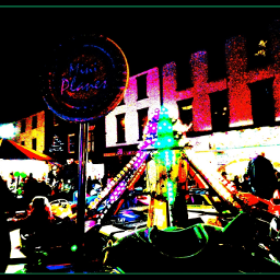 photography posterization street scene night_time