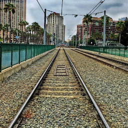 freetoedit myedit myphoto sandiegoharbor railroadtrack