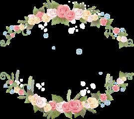 fte floral frame freetoedit