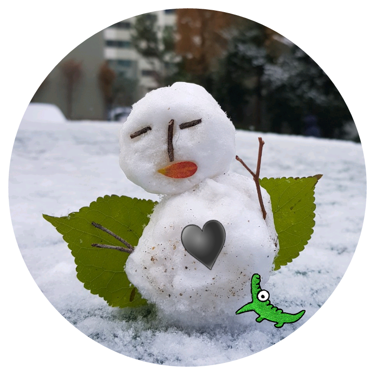 #눈사람 # 올 처음 눈