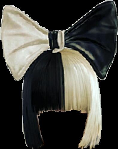 #sticker #sia #hair #black #white