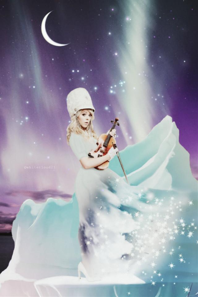 #eclindseystirling #lindseystirling #iceberg #auroraborealis #moon #myedit #madebyme #magical #madewithpicsart #creativity #winter @picsart