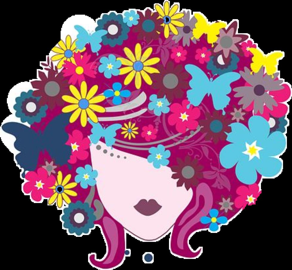 #woman #girl #floral #hair