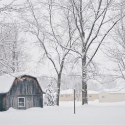 freetoedit winter snow winterwonderland barn