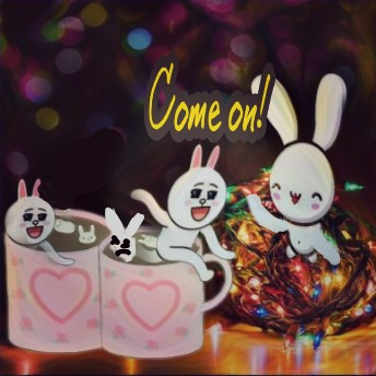 #holidaylights #christmascheer #cocoastickerremix #bunnies #highlightmagiceffect #twilighteffect