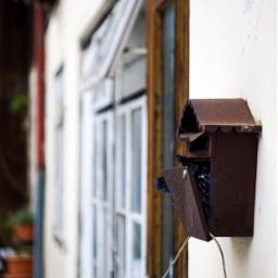 vintage oldbuilding mailbox