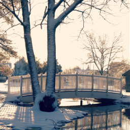 pcwinterparks winterparks freetoedit bridge cypresspark