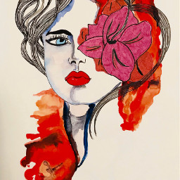 art drawing painting sketchbook artjournal moleskin ink watercolor watercolorpainting portrait artist danalakat artwork2017