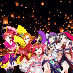 freetoedit lovelive kimono anime cute