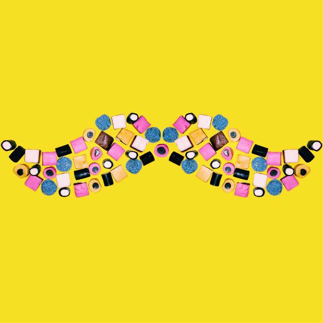 #freetoedit #art #Leichertz #candy #candies #mustache #yellow