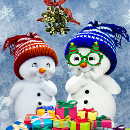 ecsnowmanfamily snowmanfamily picsartstickers stickers artfullyadded freetoedit