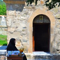 georgia tbilisi green old woman freetoedit