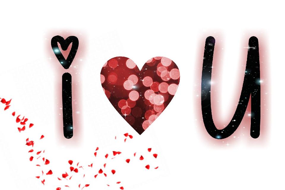 #FreeToEdit #iloveyou #iloveu #flowers #glitter