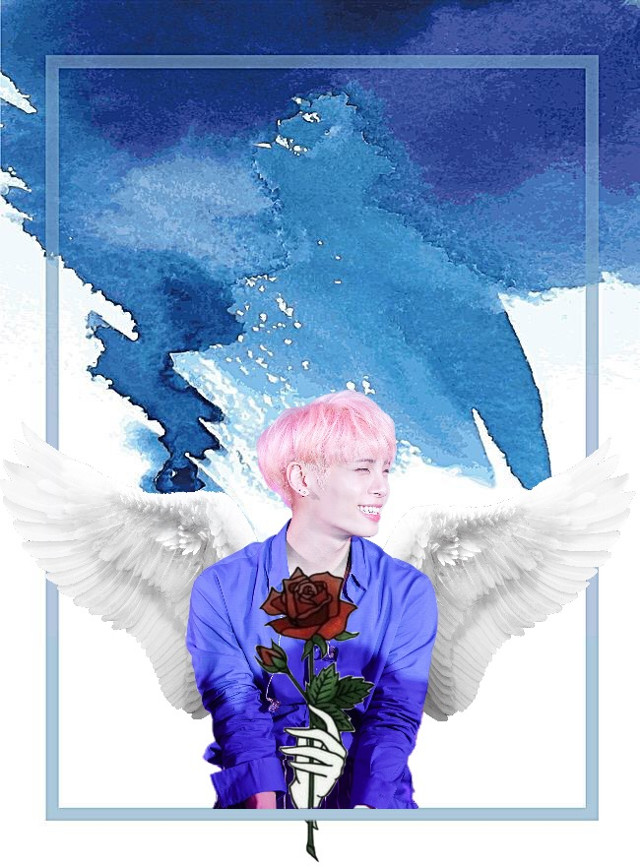 😞🙏🏻 #freetoedit #jonghyun #cry #restinpeace #Iwanttodie #why #you #died #angel #wings #rose