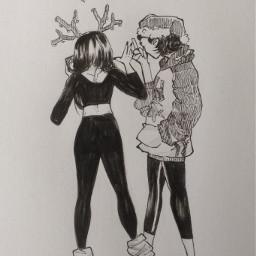 myart cute chrismas art sketch
