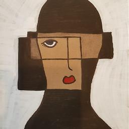 cubism figure circle ink artecontemporaneo freetoedit