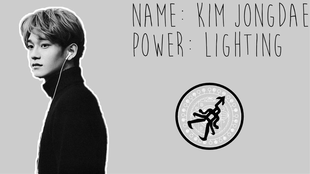 Exo Chen Kim Jongdae Wallpaper Gray Power Logo Lighting