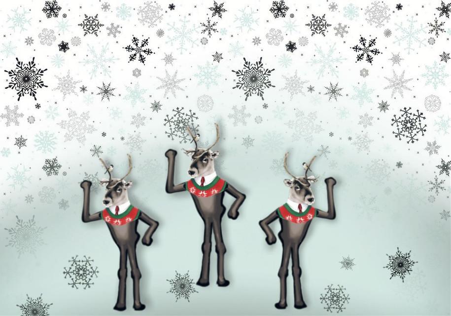 #madewithpicsart #christmas #dailystickerremix #reindeer #dance #party #festive #drawon #cute