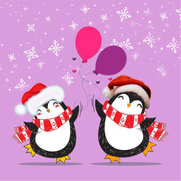 freetoedit penguin pinguinos pinguin christmas