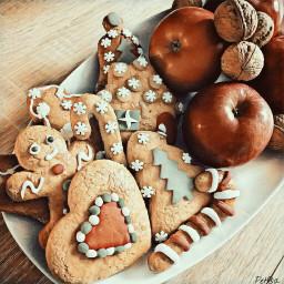 freetoedit gingerbreadcookies christmastime christmaseve christmassweets
