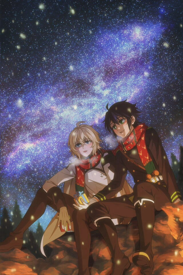 Happy Christmas Eve!!!! 🎅🎅⛄🎄🎉 #Mikayuu #SeraphOfTheEnd #Kawaii #Mikaela #Hyakuya #Yuuchiro #Hyakuya #Yaoi #Anime #ONS #OwariNoSeraph