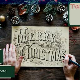 merrychristmas christmasdecoration greetingcard l4l lfl freetoedit