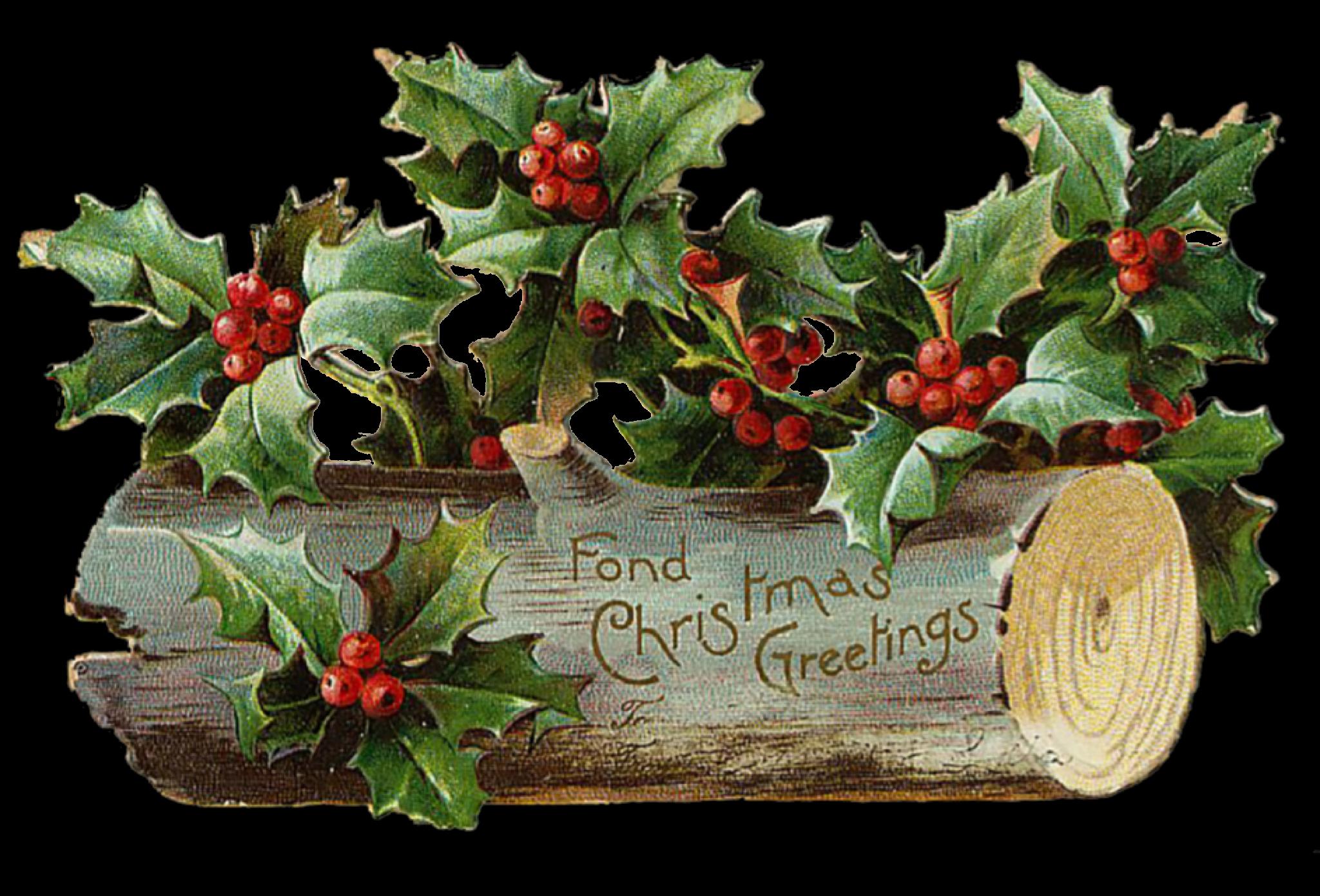 Картинки, рождественские открытки с омелой