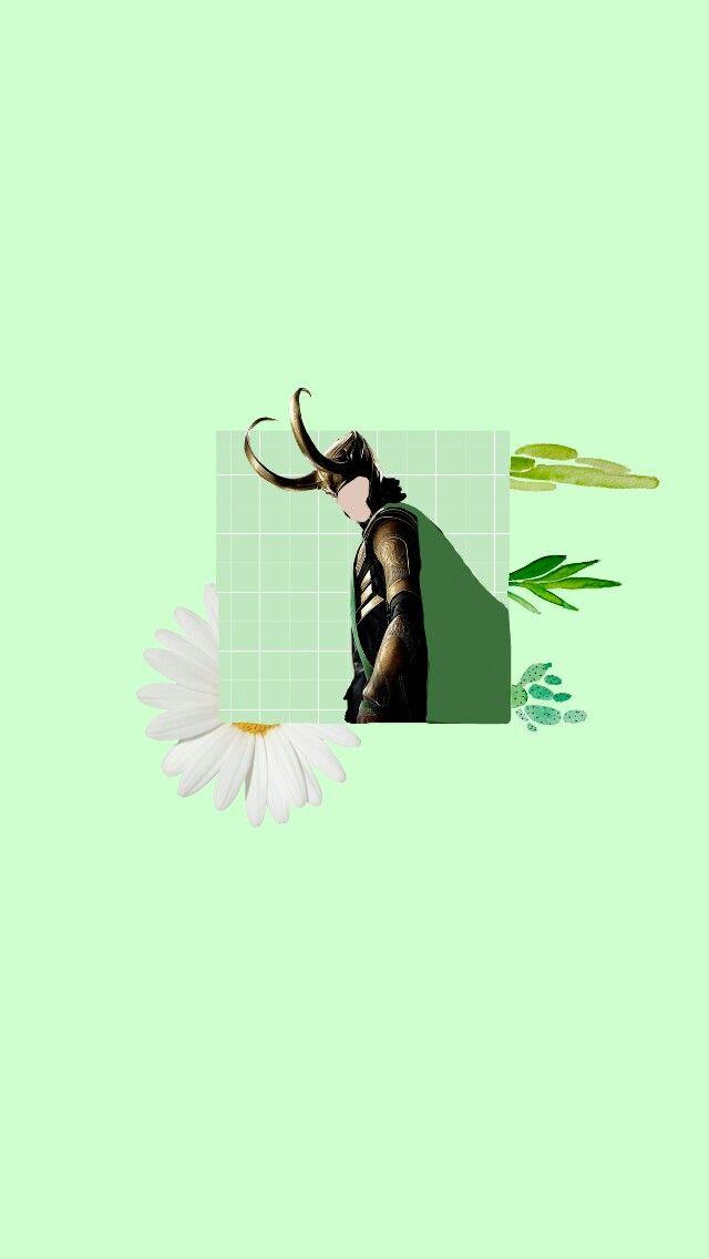 wallpaper pastel green loki Avengers tumblr minimalist