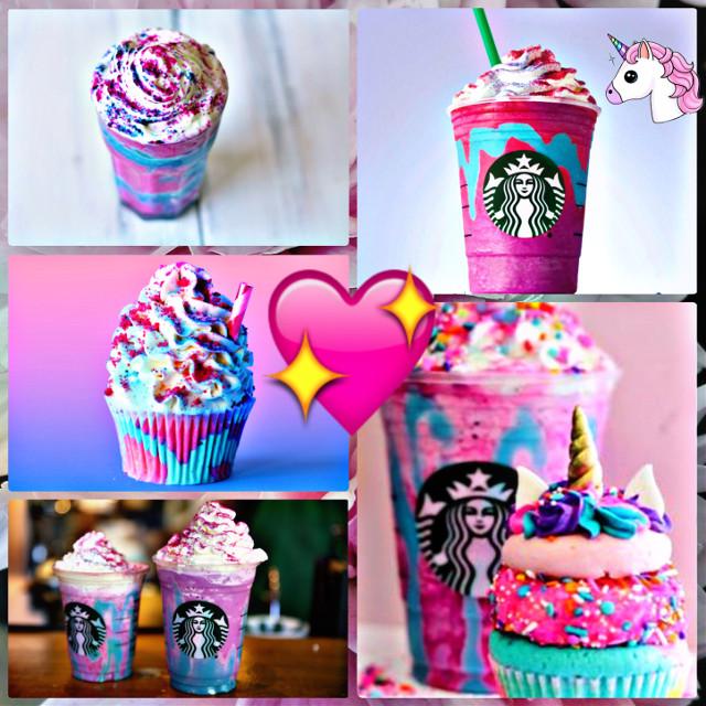 #freetoedit #starbucks #unicornfrappucino #unicorns #love #pastel #magic 💖😍🦄✨💜💙