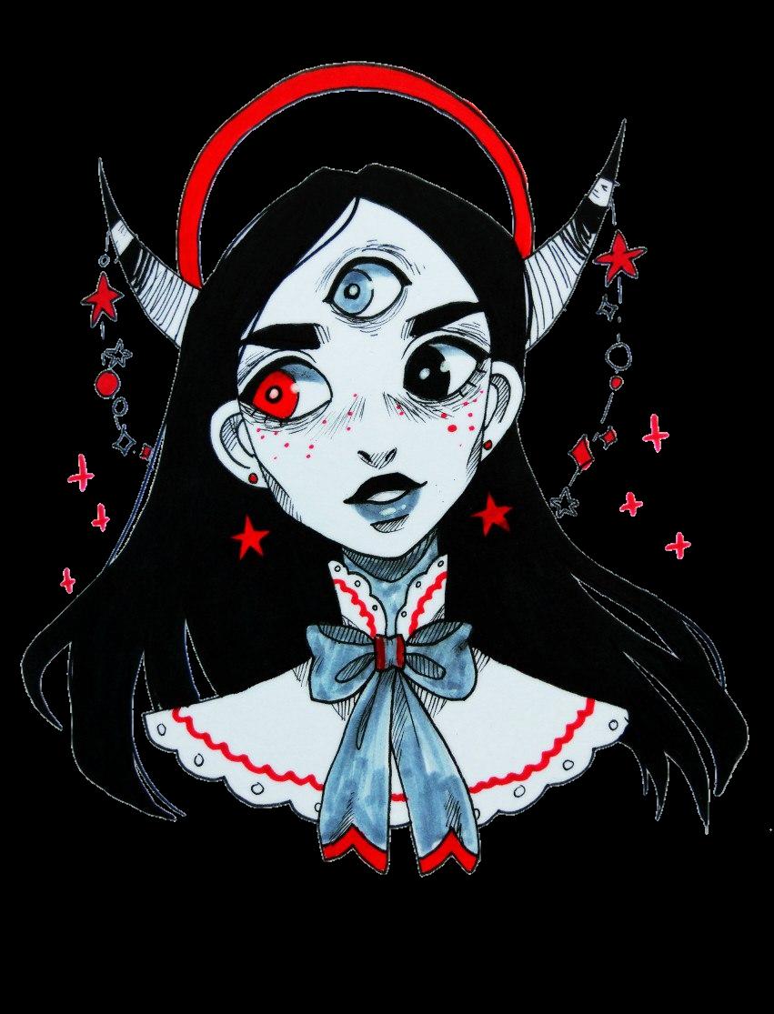 tumblr art girl girls sticker by leona schander