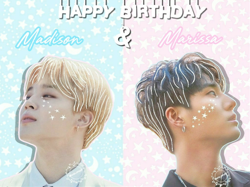 💖🎈HAPPY BIRTHDAY MADISON & MARISSA!!!💖🎈  💕*12.27.17*💕  @jins-hope  @pinkkookie  I hope you both have an amazing and blessed birthday filled with joy and happiness! May all your wishes come true!💖💕 Thank you for being an inspiration to me and to all of us here at picsart, and thank you for helping us by encouraging all of us and making us feel better about our edits, i appreciate it so much! You guys are amazing and talented, keep up the awesome work!😊👍 Love you guys so much!😊🤗😘💖💗💞💕💝💟💘❤💗💞💕💓💖❤💗💘💞💟💞💝💖💓💗❤💘❤💟💞💕💖 #bts #bangtanboys #bangtansonyeondan #bulletproofboyscouts #beyondthescene #btsedit #jiminbts #btsjimin #jimin #jiminie #parkjimin #christianchimchim #smolbean #jiminpark #jiminedit #kpop #kpopedit #kpopaesthetic #happybirthday #day6 #kangyounghyun #youngk #youngkedit  #youngkday6 #day6edit  #younghyun