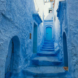 freetoedit chefchaouen marocco city blues