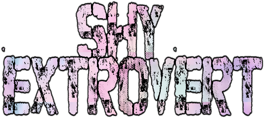 shy introvert extrovert pastel text freetoedit