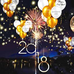 fireworksremix freetoedit happynewyear 2018