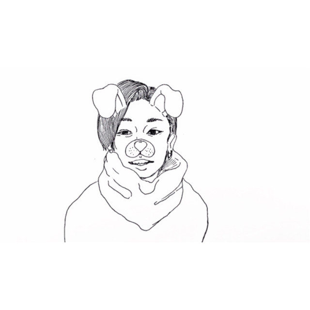 #drawing #illustration #イラスト #フォロワーさん募集中 #followme #freetoedit #japan #happynewyear #dog