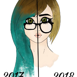 freetoedit drawing girl glasses dc2018portrait