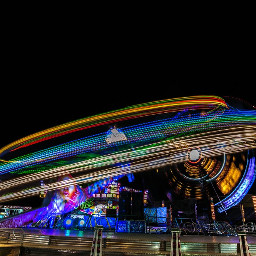 amusementpark lighttrailshape lighttrail colorful nightphotography