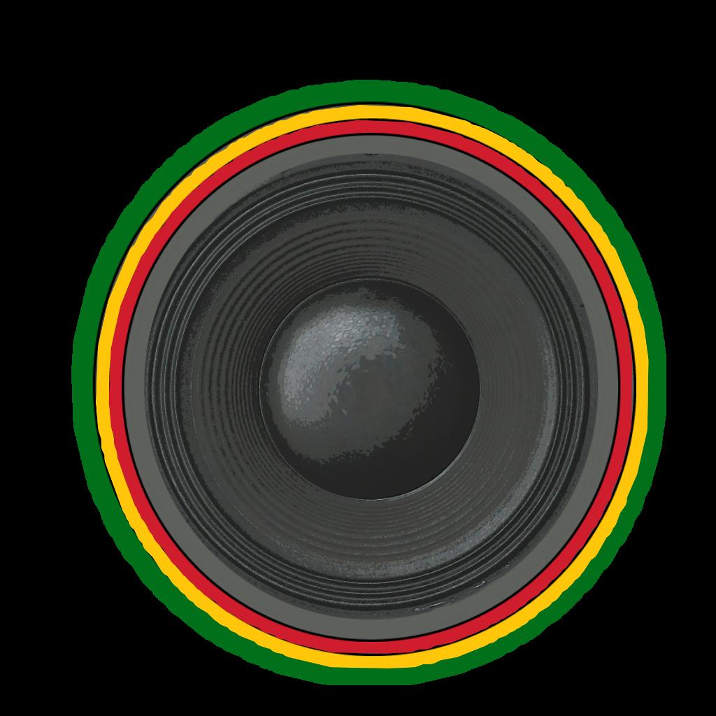 speaker enceinte sono sound boomer bass dub reggae logo