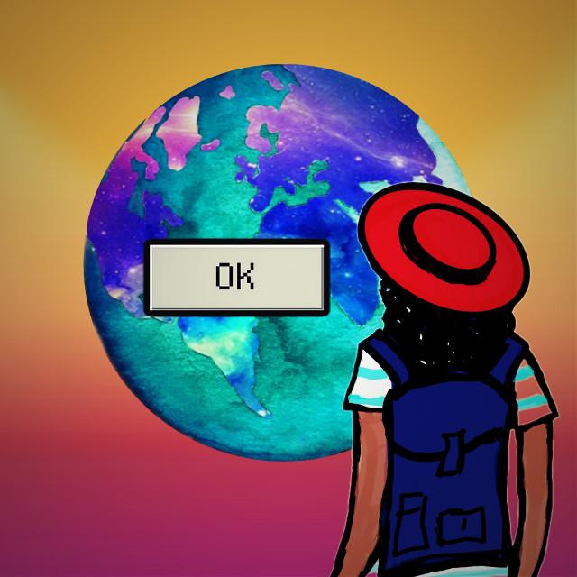 #okstickerremix #dailysticker #mydrawing #lomoeffect #mytravel #travel #earth
