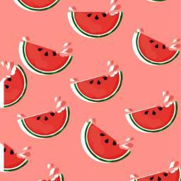 whatermelon summer sea cute red green iloveit fruits madewithpicsart rio40graus