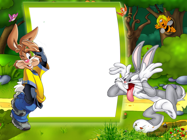cartoon looneytunes rabbit frame borders border frames...