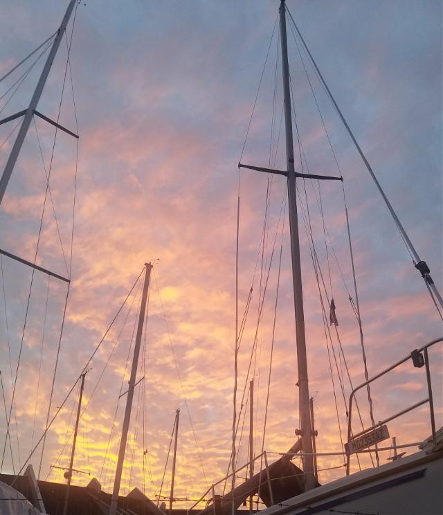 #nofilter #pclookingupward #mast #boats #sky